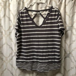 Lane Bryant cross back tee